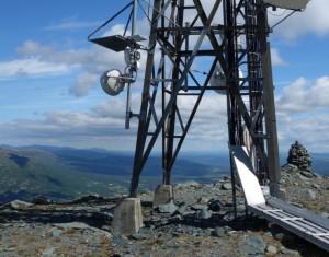 Utsikt nordøstover mot Trondheim