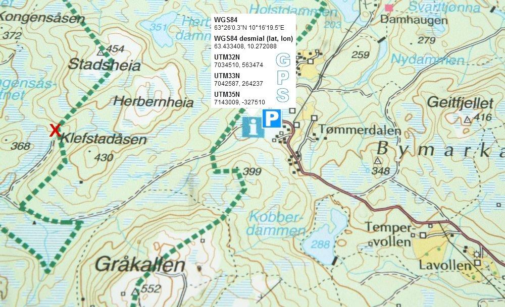 Kart over Tømmerdalen