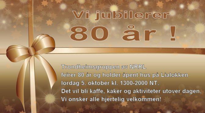 VI feirer 80 år lørdag 5. oktober 2019